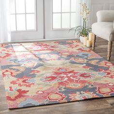 This area rug rug is crafted with easy-to-clean yarns that prevents shedding, unlike wool. rug features a variety of modern shades that will enhance your decorative scheme.