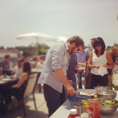 Burger and hotdog day for July birthdays and anniversaries at Quarry! #outdoor #patio #BBQ