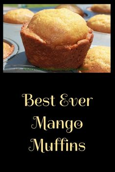 mango muffins are sweet and moist delicious tropical breakfast fruit and baked in a tasty muffin. Mango Desserts, Köstliche Desserts, Delicious Desserts, Yummy Food, Mango Recipes For Dessert, Mango Recipes Breakfast, Recipes With Mango, Mango Recipes Healthy, Mango Recipes Baking
