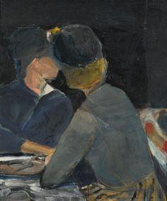 urgetocreate:  Richard Diebenkorn, Two Women at Table, 1963