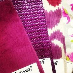 Radiant Orchid inspires us! And we have the #fabrics to match. Maxwell Fabrics