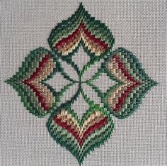 The Journey Continues – Exploring Ribbons & Four-Way Motifs Broderie Bargello, Bargello Needlepoint, Needlepoint Stitches, Needlework, Kasuti Embroidery, Ribbon Embroidery, Cross Stitch Embroidery, Cross Stitch Patterns, Creative Embroidery