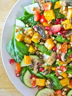 Rosemary Roasted Squash and Mushroom Salad