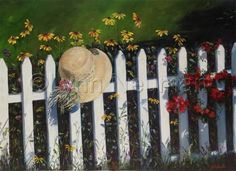 The Artist Hat on Fence