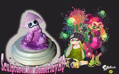 Nintendo Splatoon Figurine Collectable Baby Pink Squid Form Hand Made Sculpture