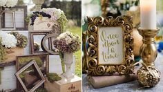 Empty antique frames and mirrors can make for great decor and even photo booth props!