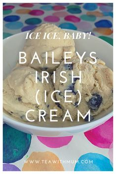 This easy to make Baileys Irish ice cream is a decadent summer treat for adults. Serve it with rich chocolate cake or brownie, or on its own. Homemade Baileys, Baileys Recipes, Homemade Ice Cream, Yummy Recipes, Baileys Ice Cream, Coffee Ice Cream, Cream Tea, Frozen Desserts, Frozen Treats