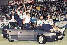 24th April 1998, India wins the Coca-Cola Cup (Ind-Aus-NZ) in Sharjah by beating mighty Australia by 6 wickets in the final. Man of the Tournament & Final Sachin Tendulkar's back to back Century which is comparing with the Sand Strom at Sharjah helps India to reaches the final and Indian captain Md. Azharuddin to lift the Trophy.