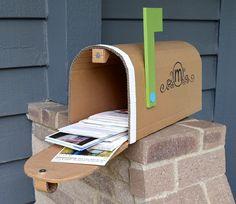ikat bag: Cardboard Mailbox