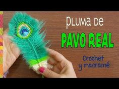 Peacock reversible feathers (crocheted and macrame) Plumas de Pavo real REVERSIBLES a crochet y macr Peacock Crochet, Crochet Feather, Feather Pattern, Love Crochet, Crochet Motif, Crochet Doilies, Crochet Flowers, Knit Crochet, Crochet Patterns
