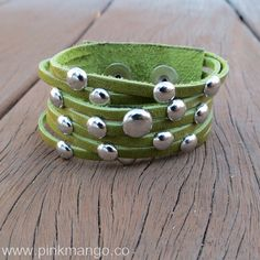 Green Olive Genuine Leather Bracelet