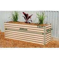 Hexies Rectangular Raised Garden Bed LGE 200cm WIDTH X 55cm DEPTH X 72cm HEIGHT Paperbark