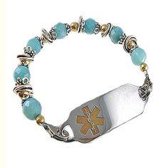 Medical Alert Bracelets and stylish jewelry custom engraved for men, women, children - Amethyst Legacy Medical ID Bracelet