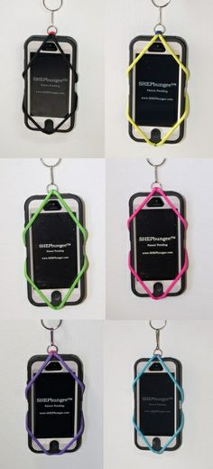 SHEPbungee™  for your Tuner, Iphone 4 & 5, Galaxy, LG and other smart phones   SHEPbungee™ small tablet size for your IPAD mini, Kindle Fire, Kurio, Leap Frog, Metronome and similar size electronics. $15.00 - carabiner with strap included