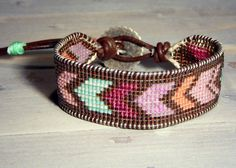 Brown and Colorful Arrow Loom Woven by TowerCreationsbyTC on Etsy, $45.00