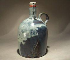 Stoneware flip top beer growler / howler. by jonwhitney on Etsy, $48.00