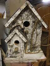 rustic birdhouse - by okwoodshop