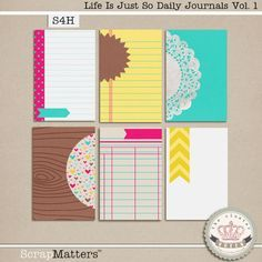 Quality DigiScrap Freebies: Life Is Just So journal cards freebie from The Cluster Queen