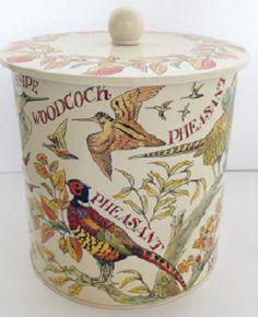 Biscuit Barrel Game Birds - Nieuw! - Pine-apple - Importeur Emma Bridg
