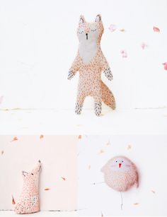 Woodland Tale stitched creatures http://knuffelsalacarteblog.blogspot.nl/ I specially love the fox!