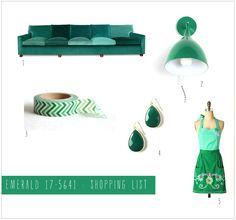 Color mix : Emerald green