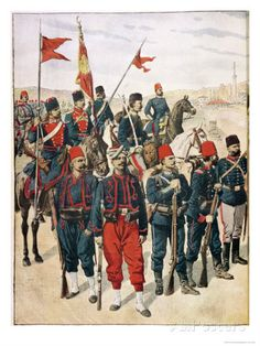The Turkish Army during the Balkan War, Turkish Soldiers, Turkish Army, Military Art, Military History, Military Uniforms, Ottoman Turks, Turkish People, Colonial, Historical Art