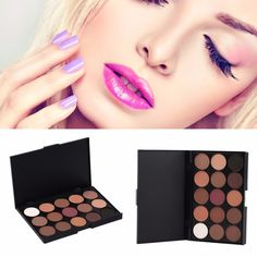 15 Colors Professional Eye Shadow Cosmetics Makeup Palette Naked Eyeshadow Pallete Matte Pigments Make Up Tool 2017 Hot Selling