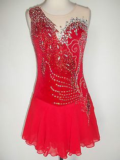 Custom Made Ice Skating Baton Twirling Costume Dress | eBay