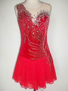 Custom Made Ice Skating Baton Twirling Costume Dress | eBay