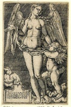 "Hans Sebald Beham , ""Venus and Cupid"", XVI"