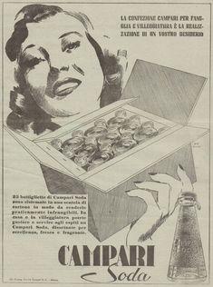 J0123 CAMPARI SODA - Confezione per famiglia - Pubblicità del 1939 - Old advert