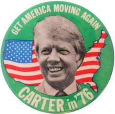 Carter - Get America Moving Again | Busy Beaver Button Museum
