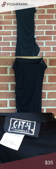 Long Gown from City Triangles Beautiful strapless black and white gown from City Triangles size Small.  Beautiful ruffle along side very flattering fit.  Perfect for a homecoming/formal/special occasion City Triangles Dresses Prom
