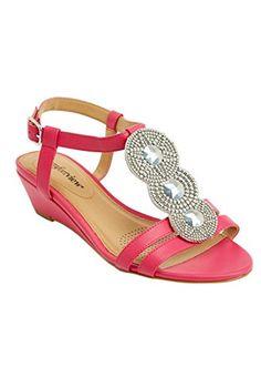 Comfortview Women's Wide Thea T-Strap Sandal (Tropical Raspberry,10 Ww) Comfortview http://www.amazon.com/dp/B00TVDABLU/ref=cm_sw_r_pi_dp_HJyrvb0R2DATX