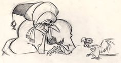 Concept art for Disney's Aladdin