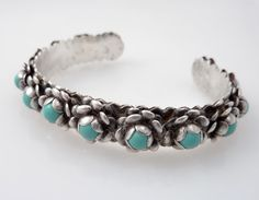 Sterling silver and turquoise... a timeless classic combo