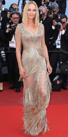 Uma Thurman at Cannes