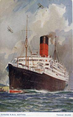 Scythia 1921, de Cunard Line, GB