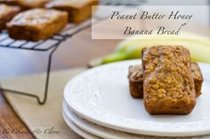 THIS IS AMAZING! Peanut Butter Honey Banana Bread from Crimson & Clover ~ honey instead of sugar! Delicious.