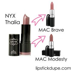 NYX Lip Dupes! Just trying to keep track of colors I liked and their dupes!