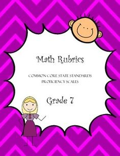 These proficiency scale rubrics comb apart each Common Core State Standards in this grade 7 strand by delineating various cognitive demands. These proficiency scales detail a range of cognitive achievement by students, all in the following domains of Mathematics:*Statistics and Probability *Geometry *Ratios and Proportions*Expressions and Equations*Number SystemsThese proficiency scales detail a range of cognitive achievement by students, all in the following domains of mathematics:*Analyze…