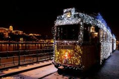 I hope these are running when we return to Budapest. Christmas trams in Budapest Christmas Things To Do, Christmas Tale, Merry Christmas, Christmas Trips, Christmas Markets, Christmas Photos, Christmas Decor, Christmas Ideas, Visit Budapest