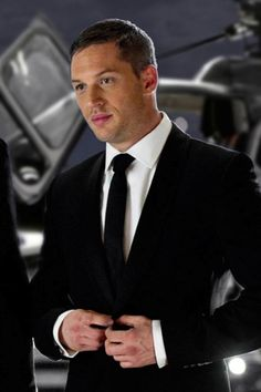 He might be wearing a suit, but he's still a little rough around the edges... Just the way I like 'em ;) haha