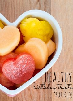 Healthy birthday treats for kids? Yes - it's totally possible and totally delicious! YUM!