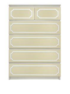 """Show details for Anne 6"""" x 29"""" O'verlays Kit for IKEA MALM (6 drawer chest)"""