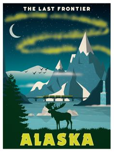 Vintage Alaska Poster available now at ideastorm.bigcartel.com