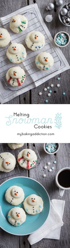 Melting Snowman Cookies from My Baking Addiction