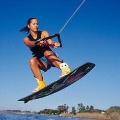Wakeboarding ~ LOVE THIS!! And, wake surfing!!!! AND, I did NOT do it with air!!! HA! ~mm  Make sure to check out our friends at http://www.talic.com for a wakeboard storage rack