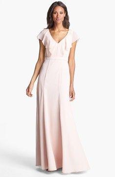 Jenny Yoo 'Cecilia' Ruffled Chiffon Long Dress (Online Only) on shopstyle.com