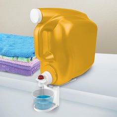 The Arm and Hammer folding laundry cup caddy provides an innovative solution to your everyday routine. This patented folding laundry cup caddy easily slides under your 210 Laundry Detergent Storage, Laundry Room Organization, Laundry Room Design, Laundry Area, Organization Hacks, Diy Home Cleaning, Cleaning Hacks, Organizing Cleaning Supplies, Bathroom Cleaning